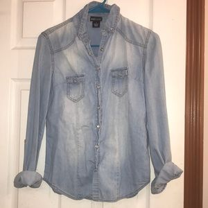 Button up jean top!